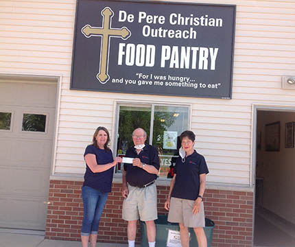 Chapter W160 De Pere Christian Outreach Food Pantry Green Bay WI